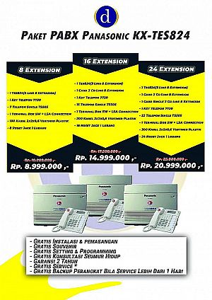 PAKET PABX PANASONIC KX-TES824 16 Extension